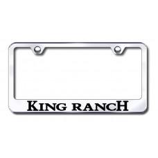 King Ranch Chrome Laser Etched License Plate Frame