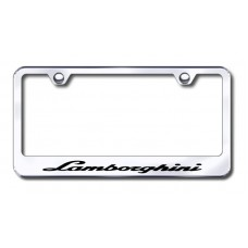 Lamborghini Chrome Laser Etched License Plate Frame
