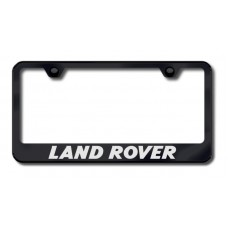Land Rover Black Laser Etched License Plate Frame