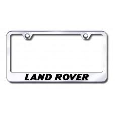 Land Rover Chrome Laser Etched License Plate Frame