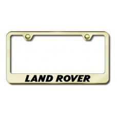Land Rover Gold Laser Etched License Plate Frame