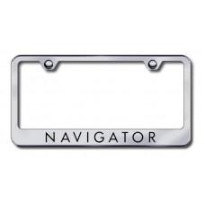 Lincoln Navigator Brushed Steel Laser Etched License Plate Frame