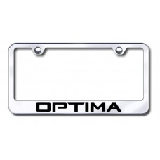 Kia Optima Chrome Laser Etched License Plate Frame