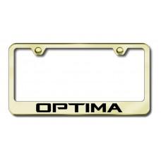 Kia Optima Gold Laser Etched License Plate Frame