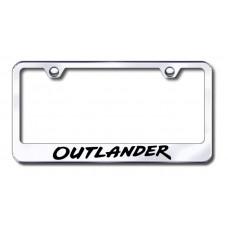 Mitsubishi Outlander Chrome Laser Etched License Plate Frame