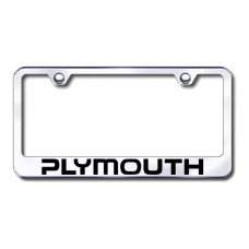 Plymouth Chrome Laser Etched License Plate Frame