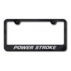 Power Stroke Black Laser Etched License Plate Frame