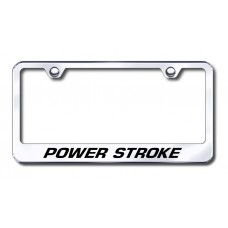 Power Stroke Chrome Laser Etched License Plate Frame