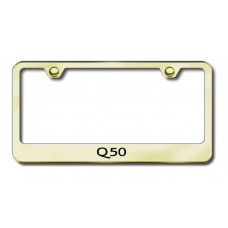 Infiniti Q50 Gold Laser Etched License Plate Frame