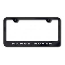 Range Rover Black Laser Etched License Plate Frame