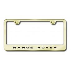 Range Rover Gold Laser Etched License Plate Frame