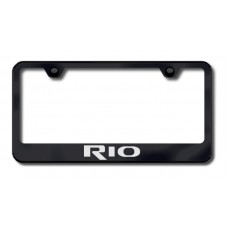 Kia Rio Black Laser Etched License Plate Frame