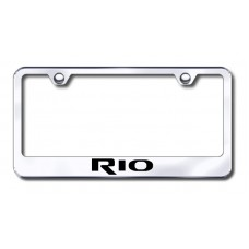 Kia Rio Chrome Laser Etched License Plate Frame