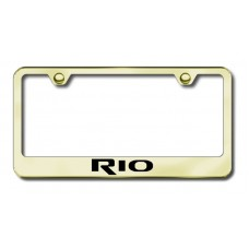 Kia Rio Gold Laser Etched License Plate Frame