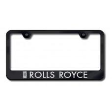 Rolls Royce Black Laser Etched License Plate Frame