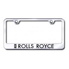 Rolls Royce Chrome Laser Etched License Plate Frame