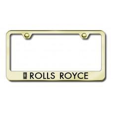 Rolls Royce Gold Laser Etched License Plate Frame