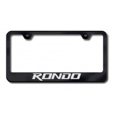 Kia Rondo Black Laser Etched License Plate Frame