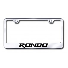 Kia Rondo Chrome Laser Etched License Plate Frame