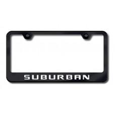 Chevrolet Suburban Black Laser Etched License Plate Frame