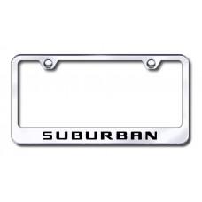 Chevrolet Suburban Chrome Laser Etched License Plate Frame
