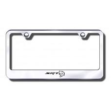 Chrysler 300C SRT8 Logo Chrome Laser Etched License Plate Frame