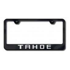 Chevrolet Tahoe Black Laser Etched License Plate Frame