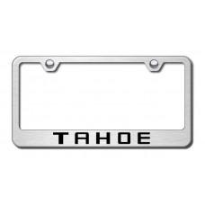 Chevrolet Tahoe Brushed Steel Laser Etched License Plate Frame