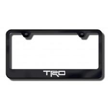 TRD Black Laser Etched License Plate Frame