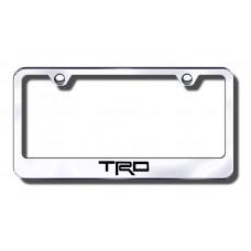 TRD Chrome Laser Etched License Plate Frame