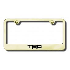 TRD Gold Laser Etched License Plate Frame