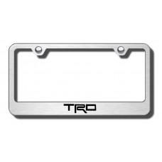 TRD Brushed Steel Laser Etched License Plate Frame