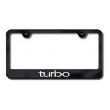 Turbo Black Laser Etched License Plate Frame