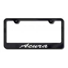 Acura Script Bottom Black Laser Etched License Plate Frame