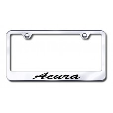 Acura Script Bottom Chrome Laser Etched License Plate Frame