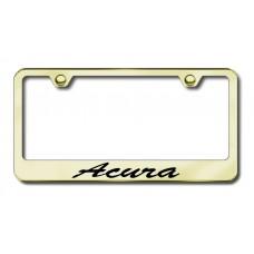 Acura Script Bottom Gold Laser Etched License Plate Frame