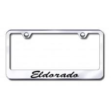 Cadillac Eldorado Script Bottom Chrome Laser Etched License Plate Frame
