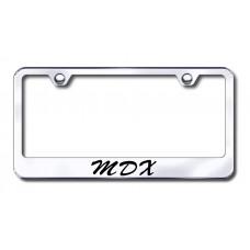 Acura MDX Wide Script Bottom Chrome Laser Etched License Plate Frame