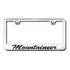 Mercury Mountaineer Wide Script Bottom Chrome Laser Etched License Plate Frame