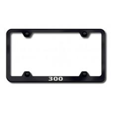 Chrysler 300 Black Laser Etched License Plate Frame