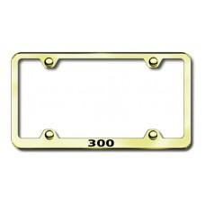 Chrysler 300 Gold Laser Etched License Plate Frame