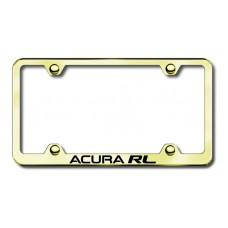 Acura RL Gold Laser Etched License Plate Frame