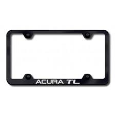 Acura TL Black Laser Etched License Plate Frame