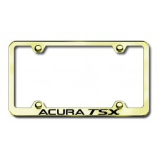 Acura TSX Gold Laser Etched License Plate Frame