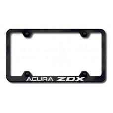 Acura ZDX Black Laser Etched License Plate Frame