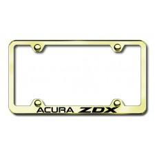 Acura ZDX Gold Laser Etched License Plate Frame