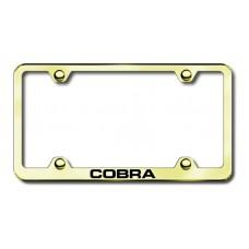 Cobra Gold Laser Etched License Plate Frame