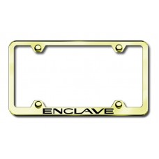 Buick Enclave Thin Gold Laser Etched License Plate Frame