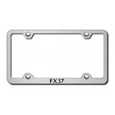 Infiniti FX37 Brushed Steel Laser Etched License Plate Frame
