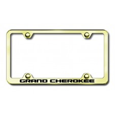 jeep grand cherokee gold laser etched license plate frame